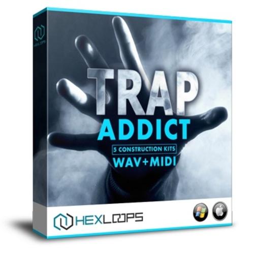 Product picture Trap Addict - 5 Trap Construction Kits Wav + MIDI